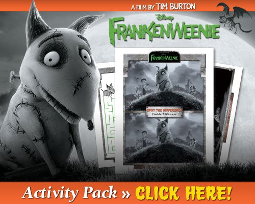 Frankenweenie Printable Activity Pack